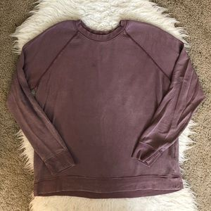 🔴American Eagle soft & sexy terry sweater purple